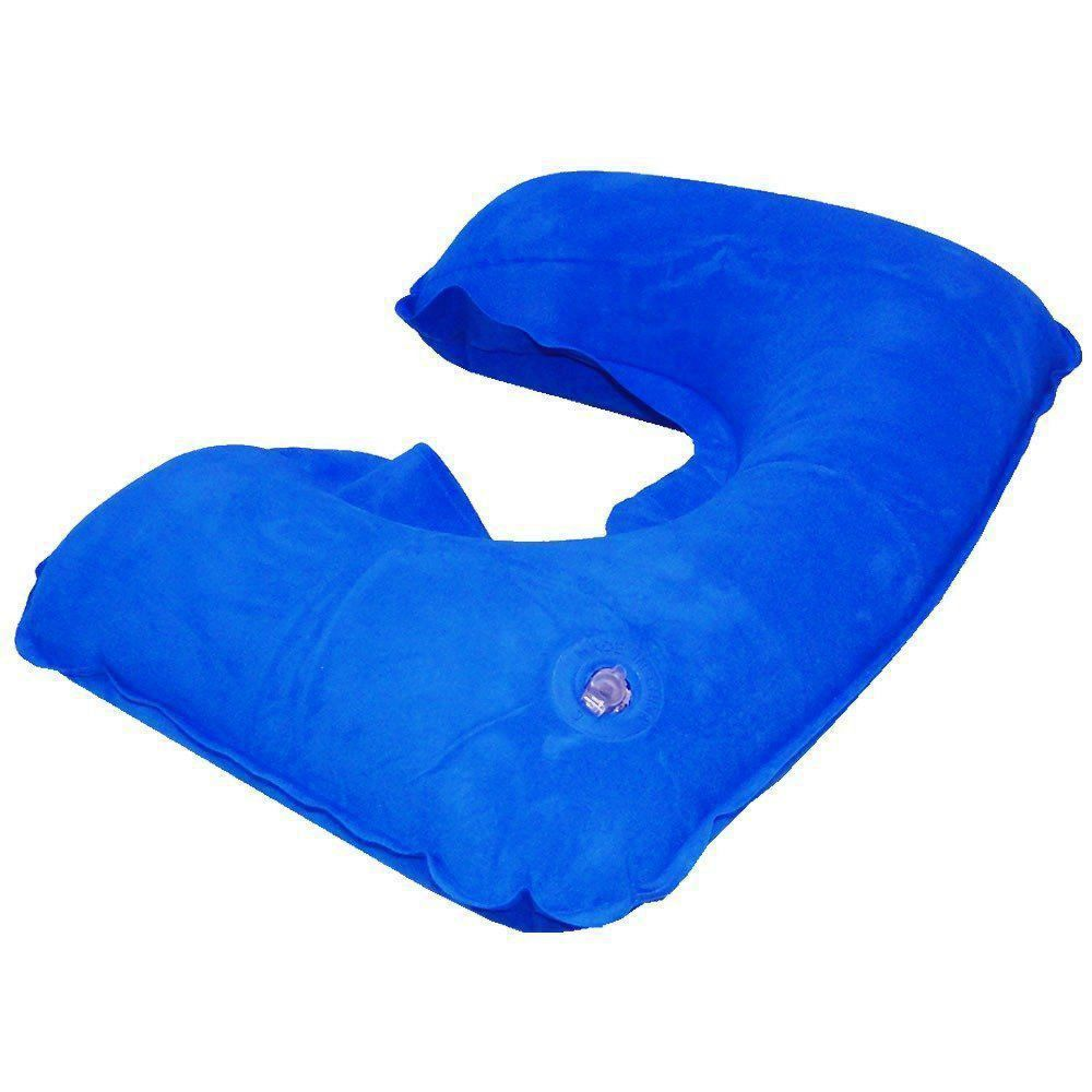 Almofada pescoço travesseiro inflável Azul CBRN01859