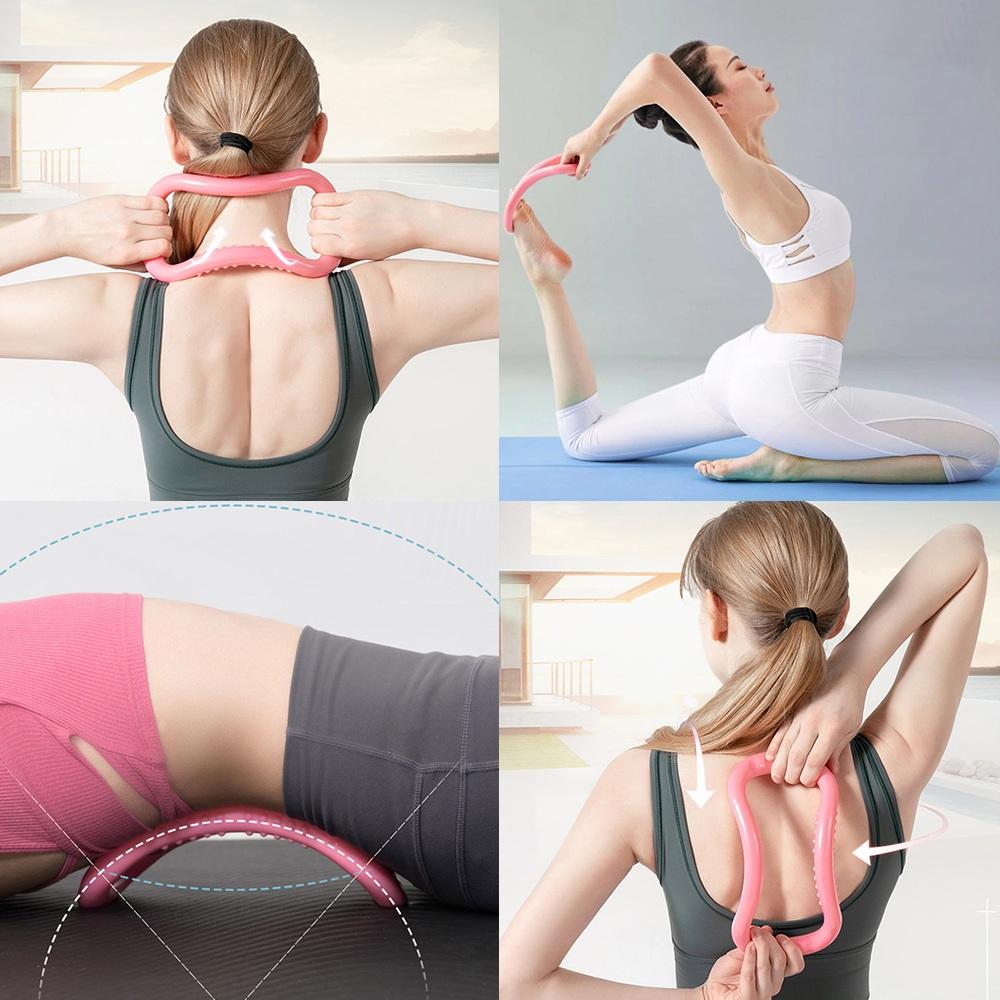 Anel Mágico Zen Ring de Alongamento Yoga Rosa CBRN16235