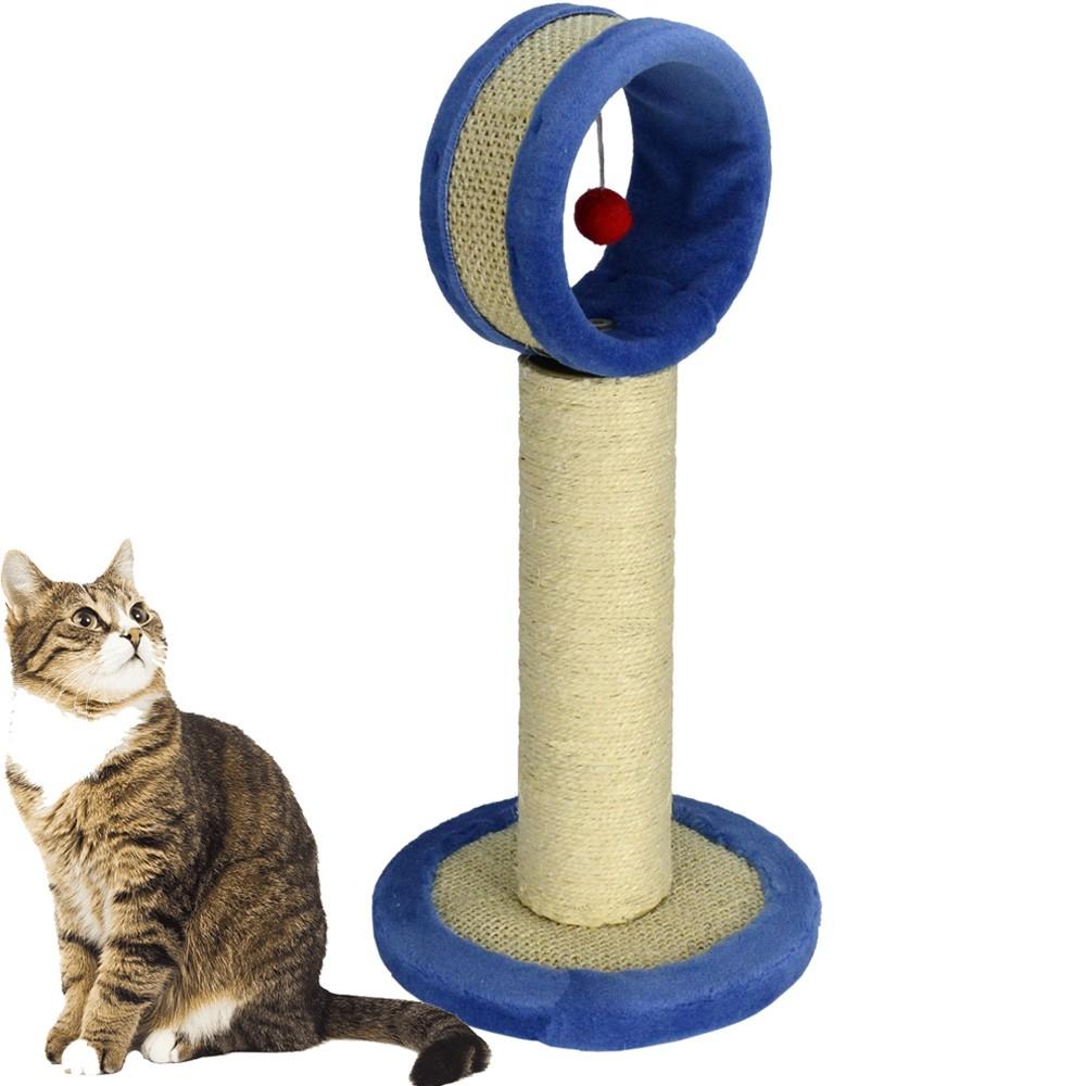 Arranhador Para Gatos Torre com Brinquedo Azul CBRN14538