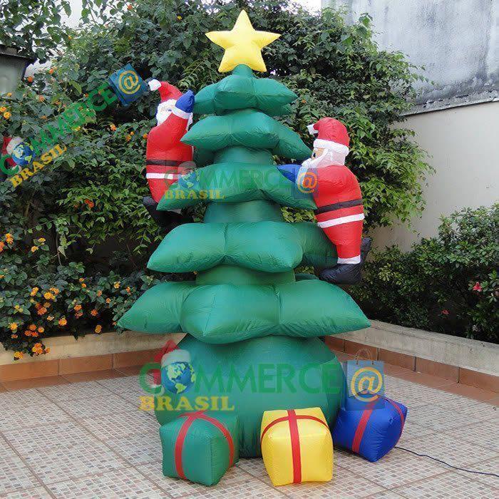 Arvore de Natal Inflável PW104 c/ Papai Noel 1,80 Iluminada - 110v