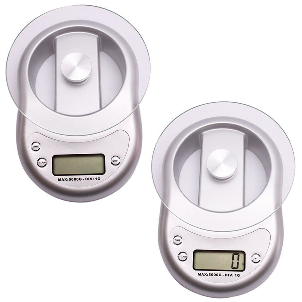 Balança Digital Luxo 5 kgs Prata CBRN01545