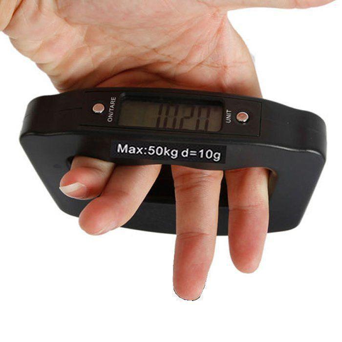 Balança Digital Bagagem Pesca Eletrônica de Mão 10g à 50kg CBR01041