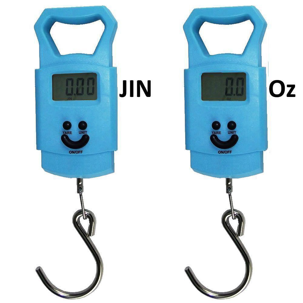 balança digital de bagagem mala viagem pesca 50 kg gancho AZUL CBRN02627