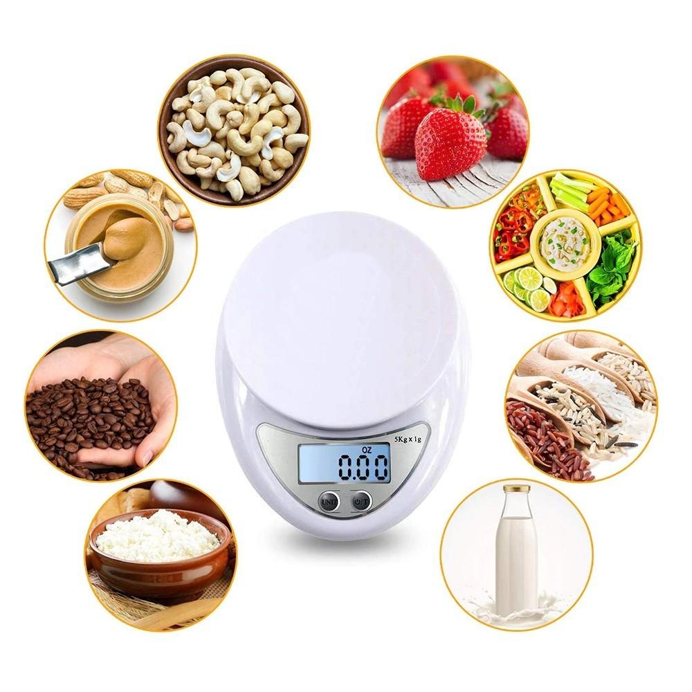 Balança Digital de Cozinha com Bandeja 5kg CBRN14170