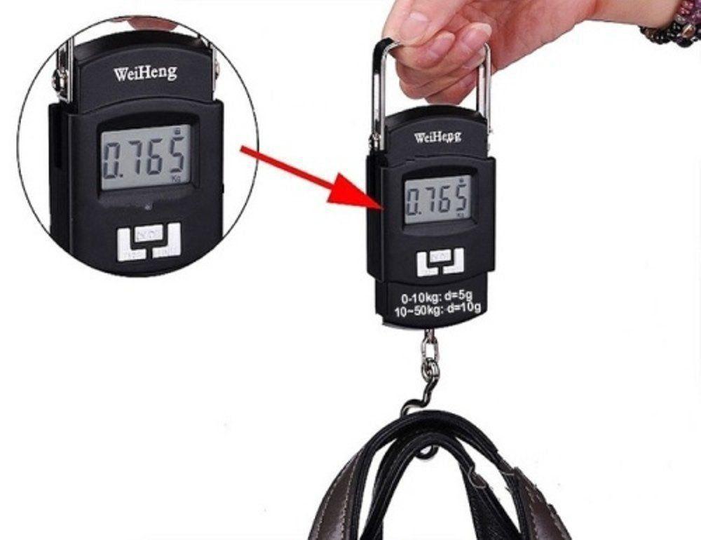 Balança Digital Portátil Gancho P/Pesca bagagem 50 Kgs Cbr1046