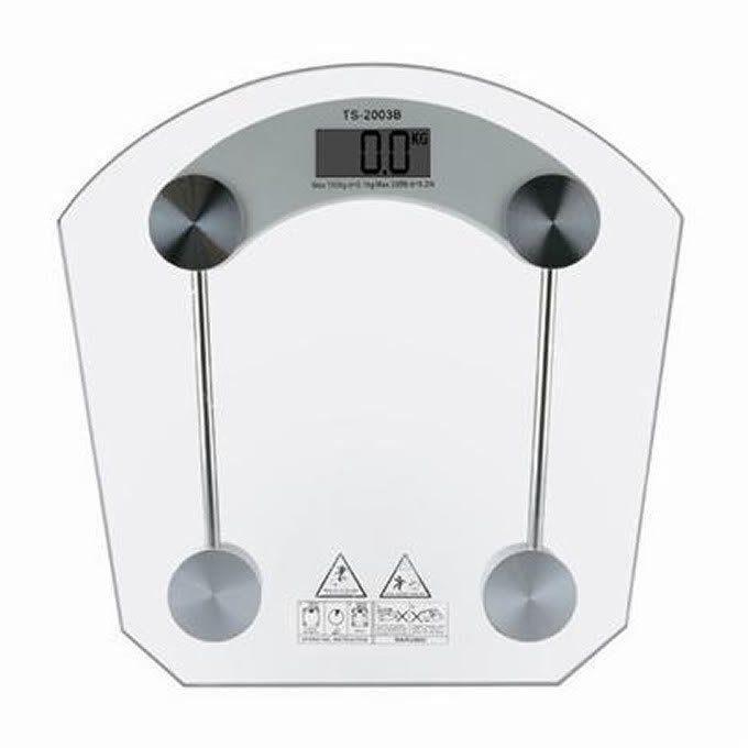 Balança Eletrônica Digital 180 kgs 2003-B Vidro Temperado - BLBQ-159 Retangular