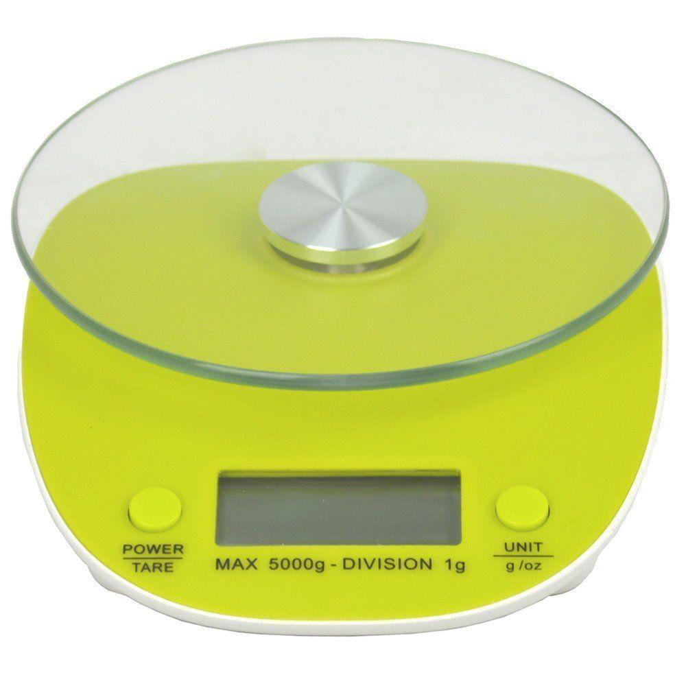 Balança Eletrônica Digital de Cozinha 5kg CBR02986 Verde