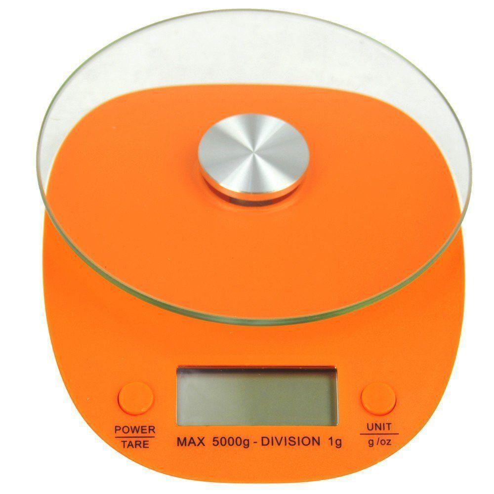 Balança Eletrônica Digital de Cozinha 5kg Laranja CBR04270