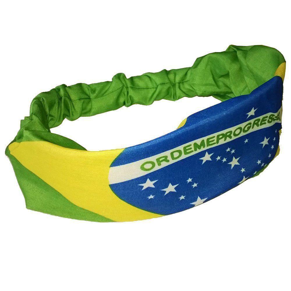 Bandana Faixa Brasil Copa do Mundo Kit 2 PC YDHZ-8103
