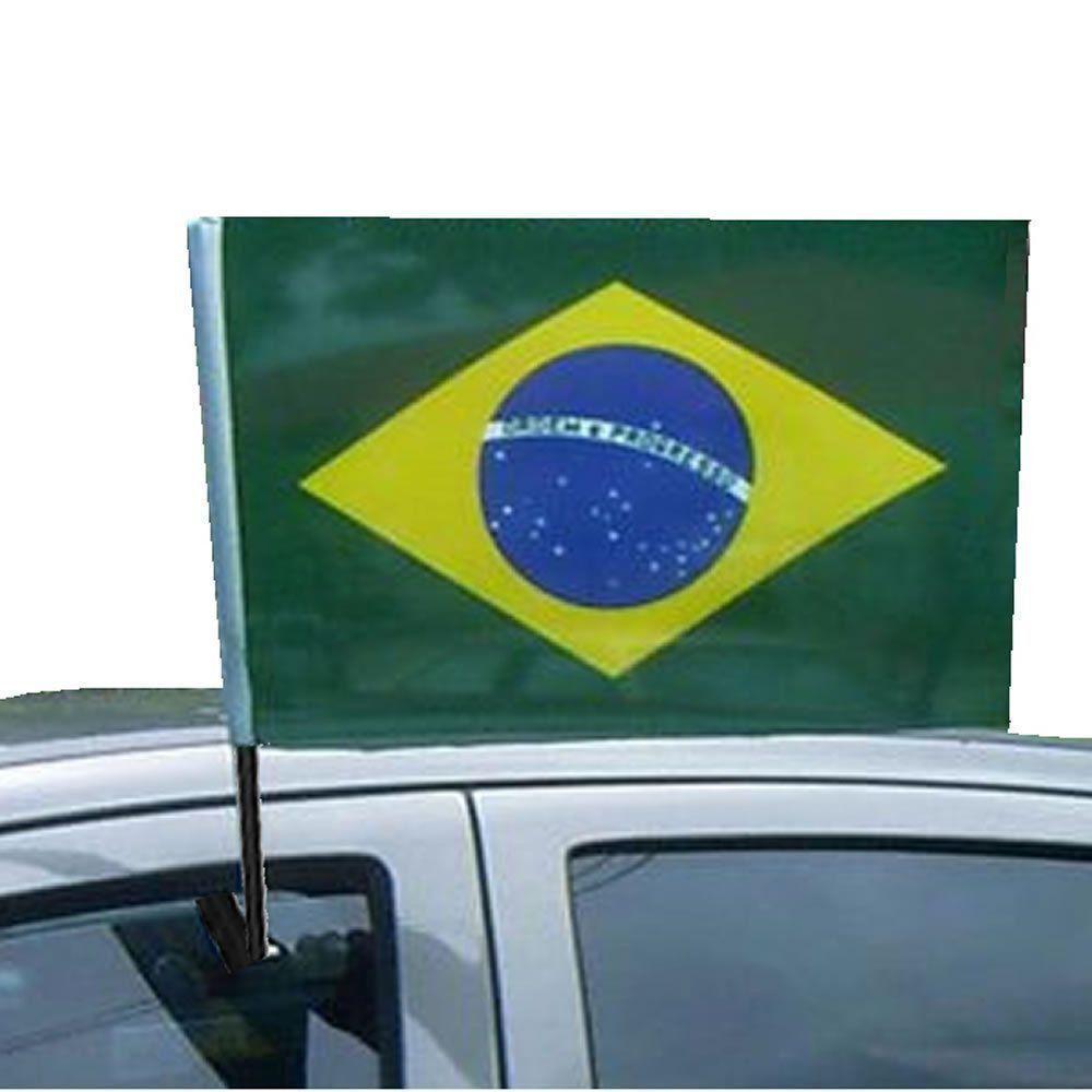 Bandeira Brasil Copa Mundo Vidro Carro 10 PARES CBRN06052