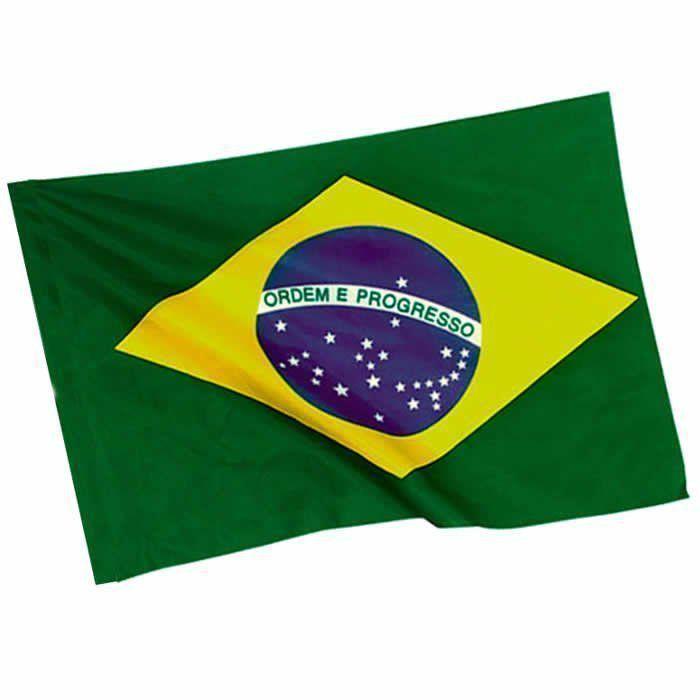 Bandeira do Brasil 60cm x 90cm Copa do Mundo 2 PC Poliester YDH-BR0013