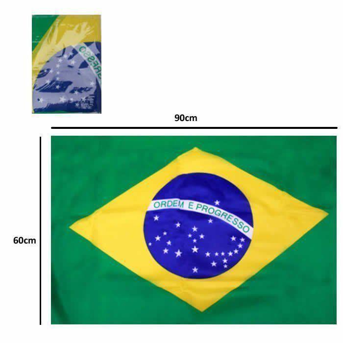Bandeira do Brasil Copa do Mundo 60cmx90cm 5 PARES CBRN06076