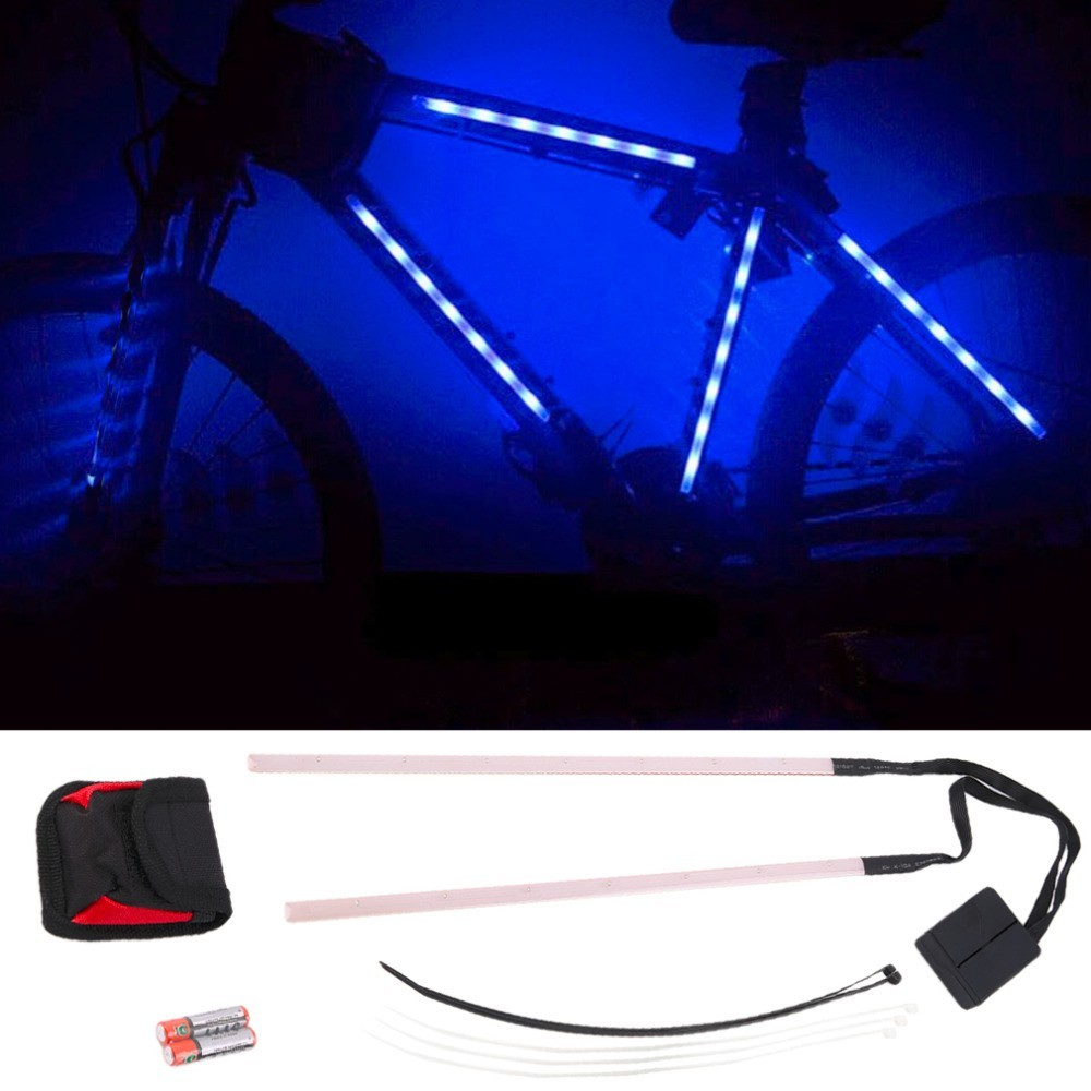Barra Fita Led Luz Bike bicicleta + Controle Segurança noite Azul CBRN01828