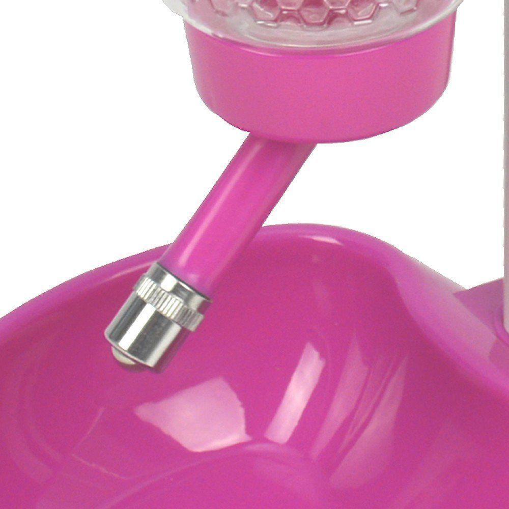 Bebedouro Comedouro automatico para cães e gatos CBR04300 rosa pink