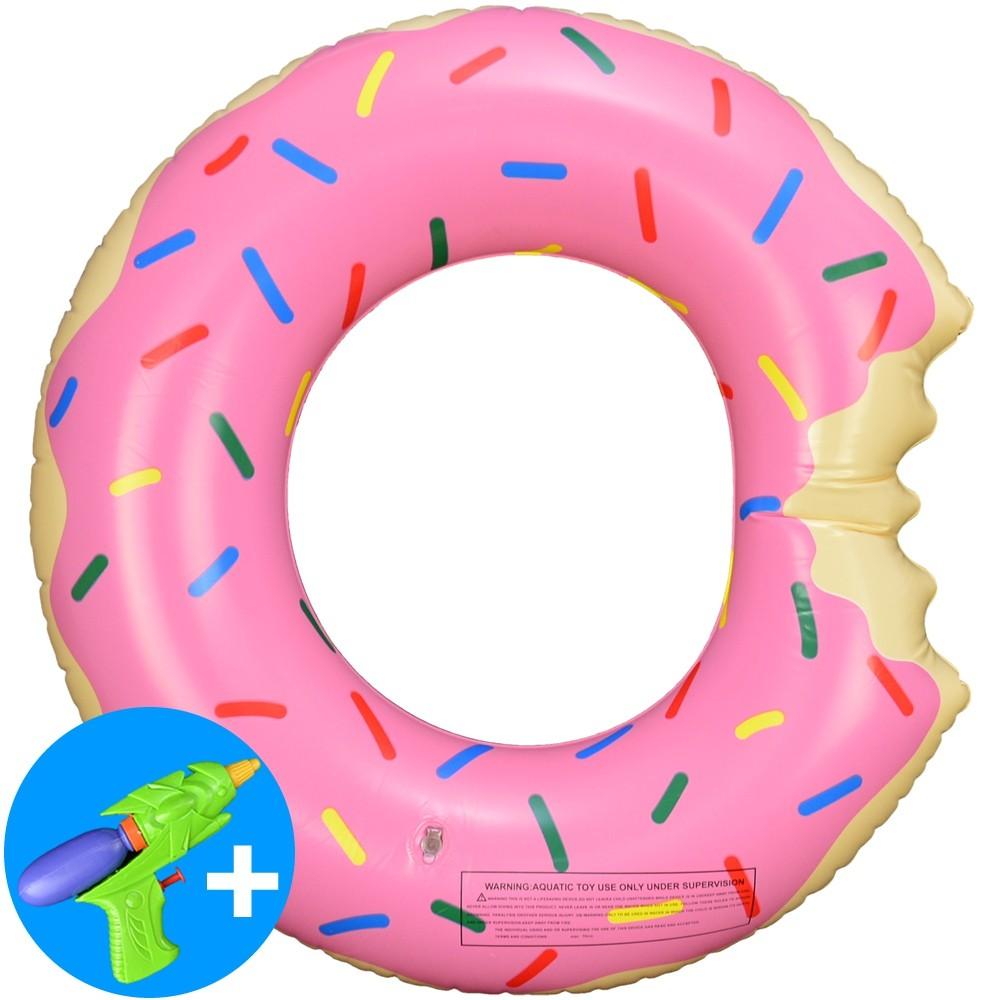 Boia Inflável Piscina Donuts Infantil Rosa 60 cm CBRN15047