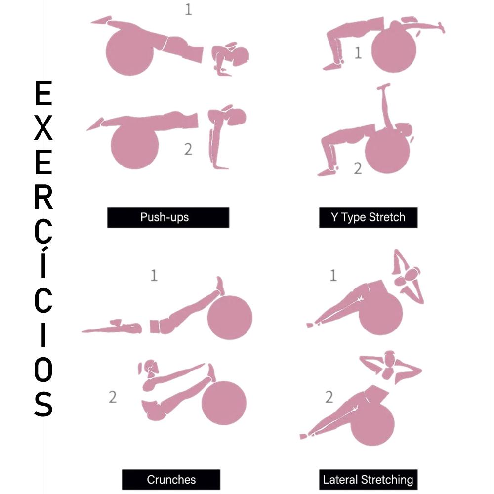 Bola Yoga Pilates Fitness Suíça 60 cm Cinza com Bomba + Chaveiro CBRN16129