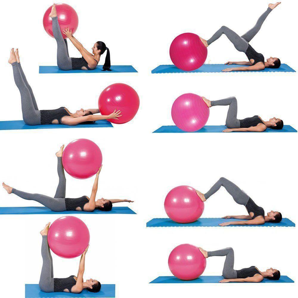Bola Yoga Pilates Fitness Suíça 60 cm com Bomba + Chaveiro CBR01070