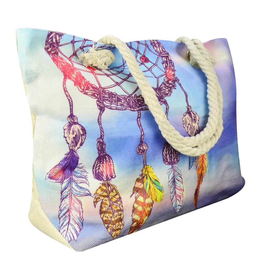 Bolsa de Praia Sacola com Alça de Corda Sonhos CBRN14903