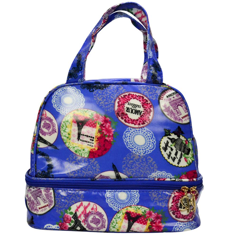 Bolsa Feminina Necessaire Térmica Paris Azul CBRN16686
