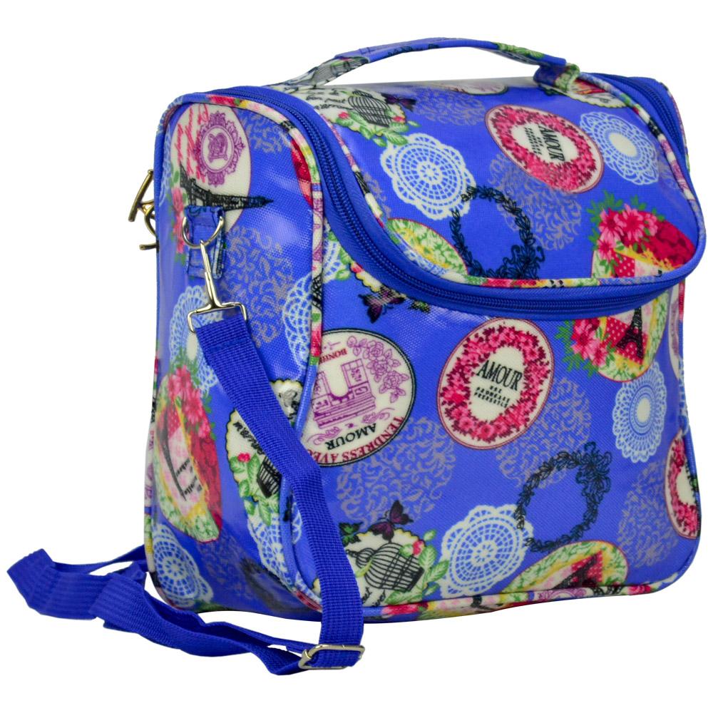 Bolsa Feminina Necessaire Térmica Paris Azul CBRN16921