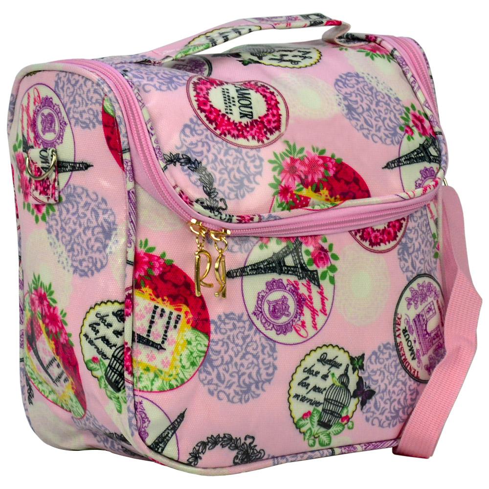 Bolsa Feminina Necessaire Térmica Paris Rosa CBRN16976