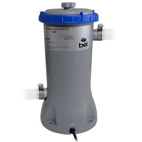 Bomba Filtrante Piscina Bel 110V com Filtro 2000 Litros hora 114600