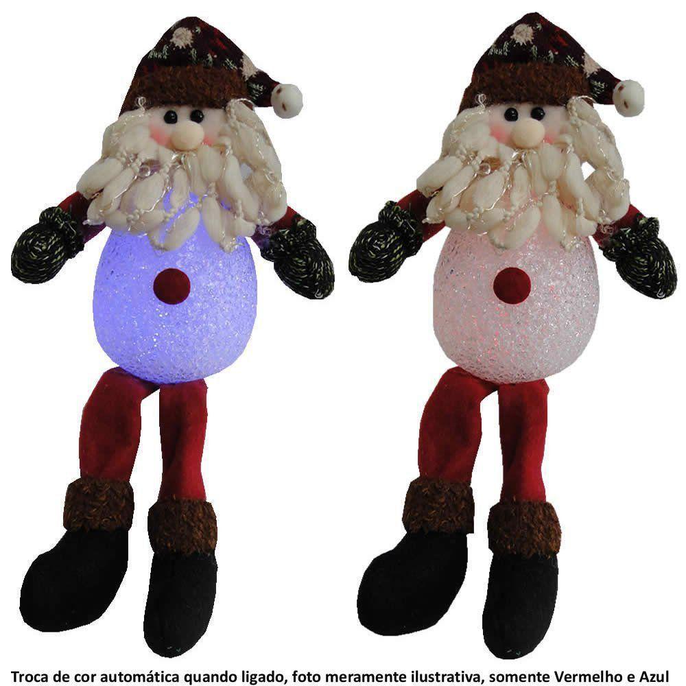 Papai Noel de Luxo Pelúcia 0091 com Led com 35cm de Altura CBRN0524