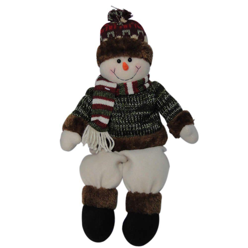 Boneco de Neve Luxo em Pelúcia com 45cm de Altura CBRN0395