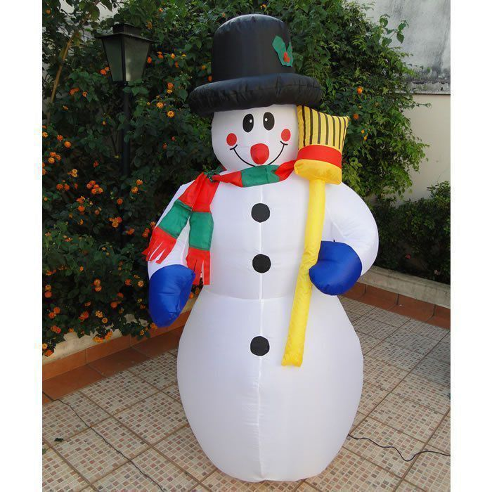Boneco de Neve Natal PW101 Inflável 1,80m Iluminado 127v
