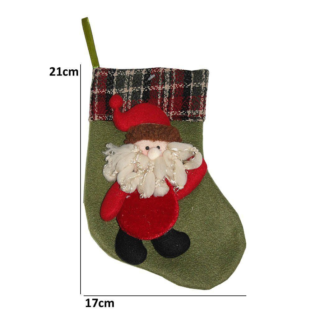 Bota de Natal em Pelúcia com Papai Noel 21cm de Altura CBRN0227