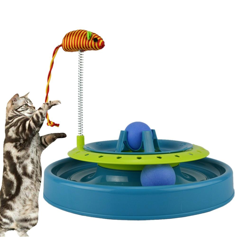 Brinquedo Trilha Estimulador Para Gatos Azul CBRN14415