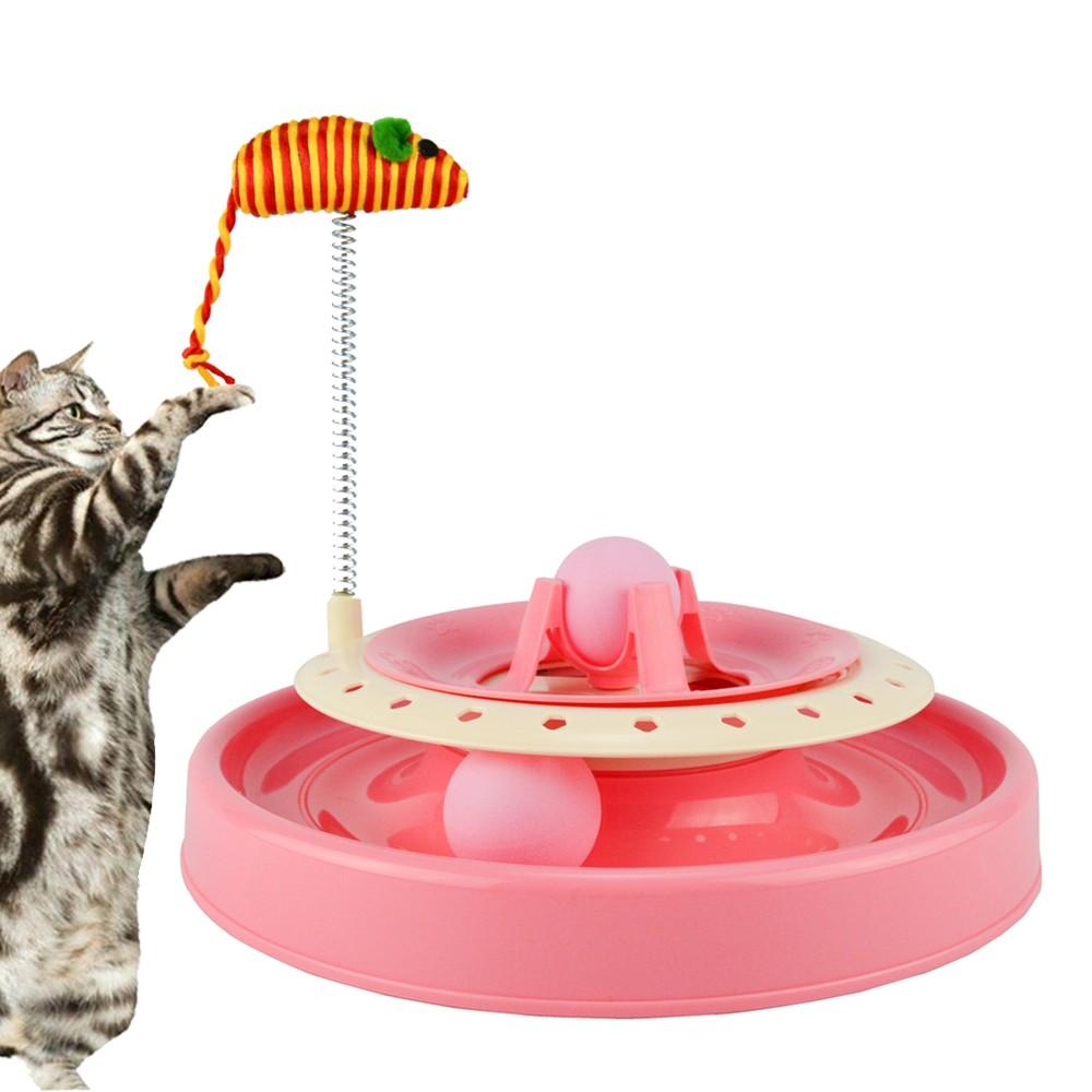Brinquedo Trilha Estimulador Para Gatos Rosa CBRN14422