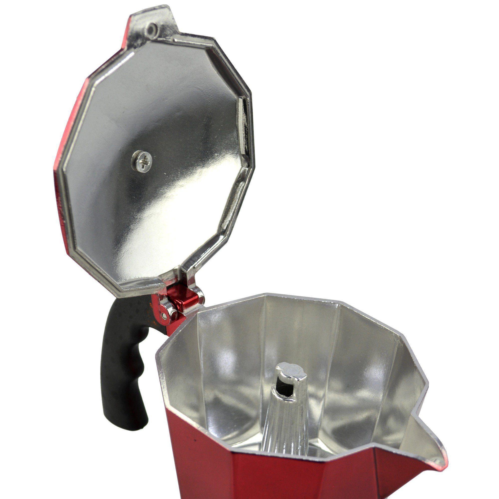 Cafeteira Italiana de Alumínio 6 Xícaras Vermelho CBRN08964