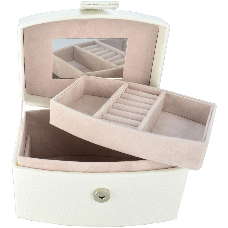 Caixa Para Joias Bijuteria Branco CBRN10769