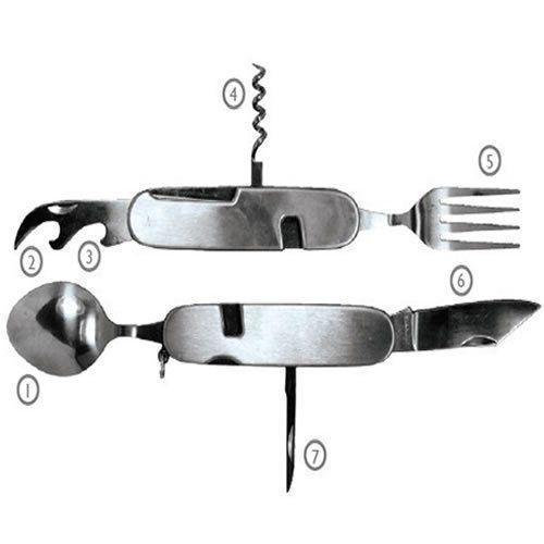 Canivete Talher 7 in 1 Aço Inox A5008/106 Pesca, Camping, Caça