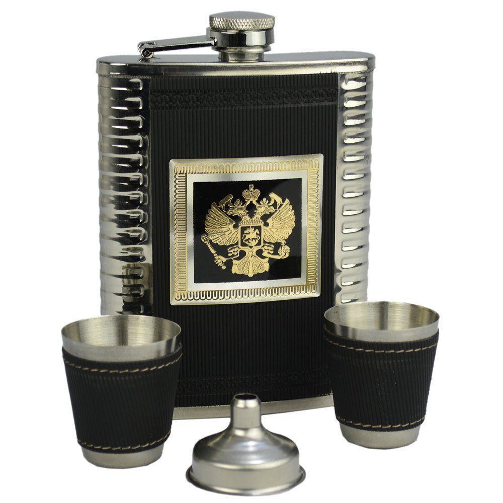 Cantil De Bolso Porta Bebida Whisky Brasão Luxo CBRN09022