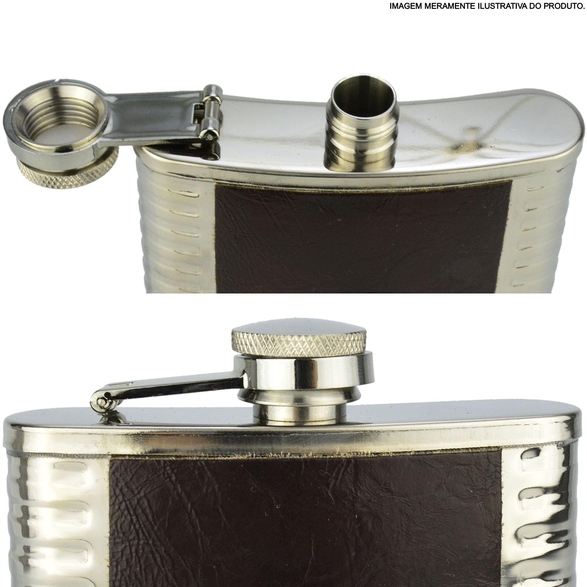 Cantil Porta Bebida Aço Inox 266 ML Águia CBRN11643
