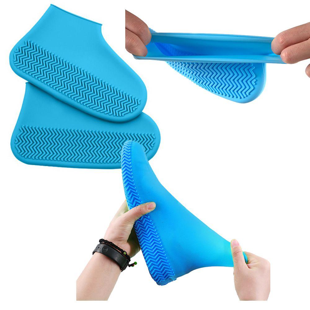 Capa de Chuva Tenis Calçado de Silicone Azul M CBRN11537