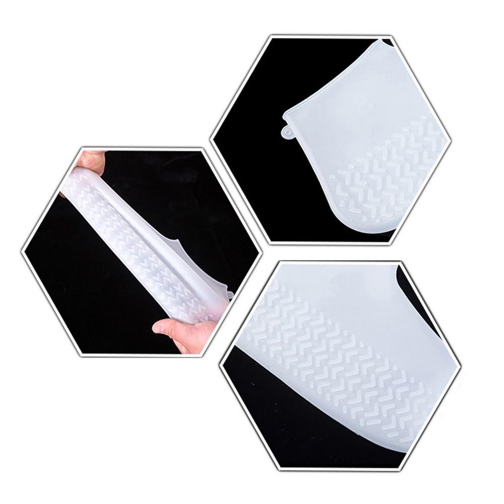 Capa de Chuva Tenis Calçado de Silicone Branco M CBRN14248