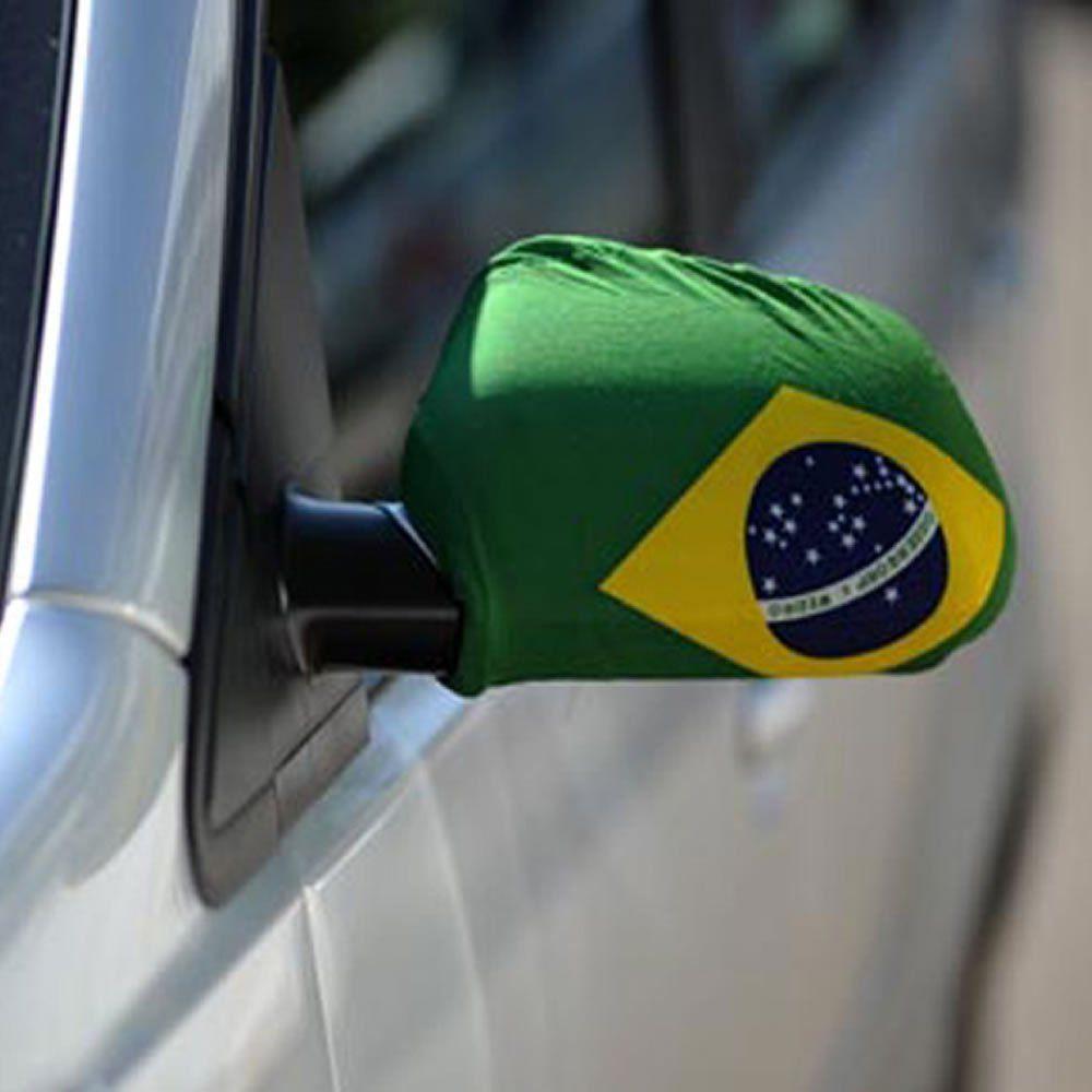 Capa Retrovisor Carro Bandeira do Brasil Copa do Mundo 5 PARES CBRN06069