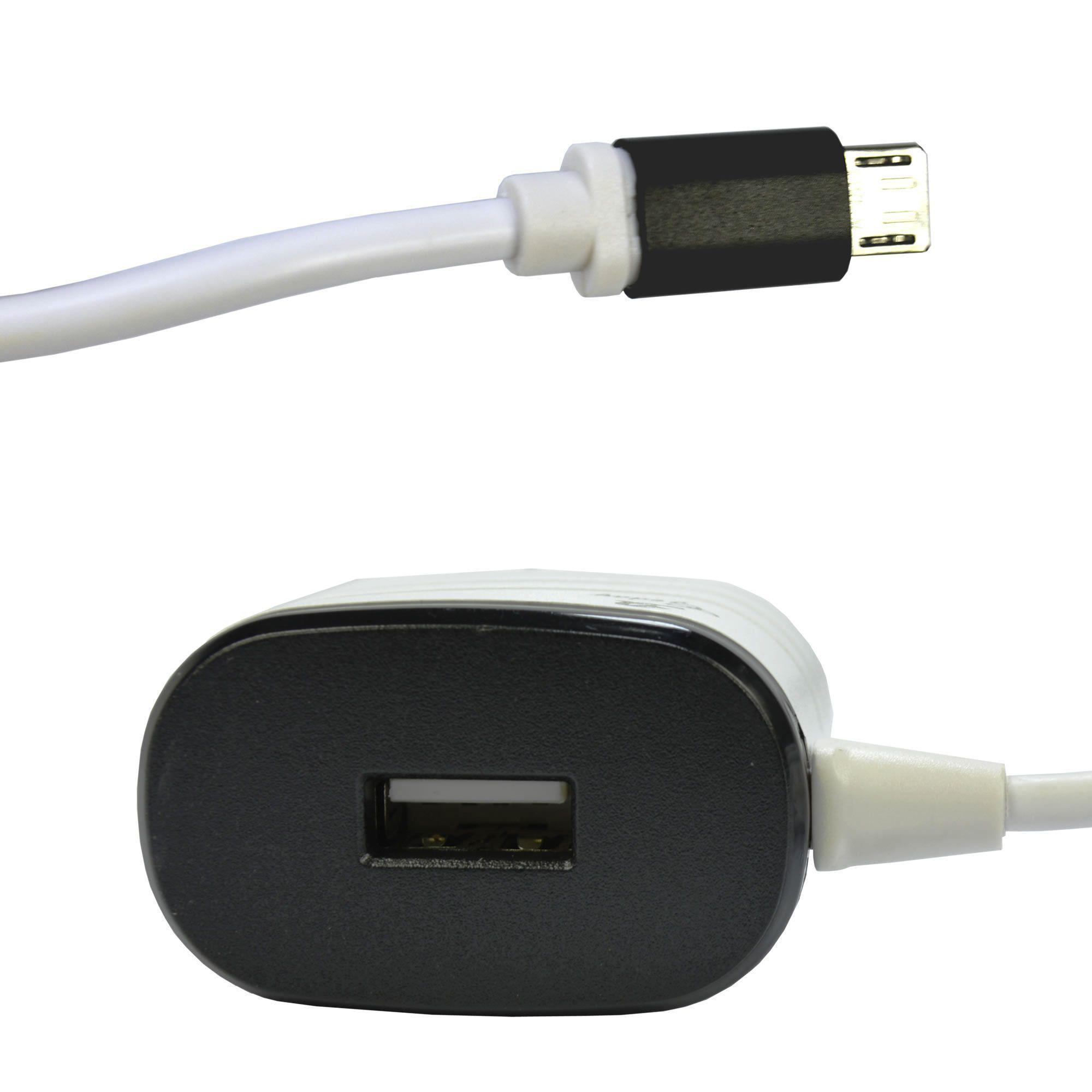 Carregador De Celular Universal Parede 1 USB bivolt 1.6A Preto CBRN05208