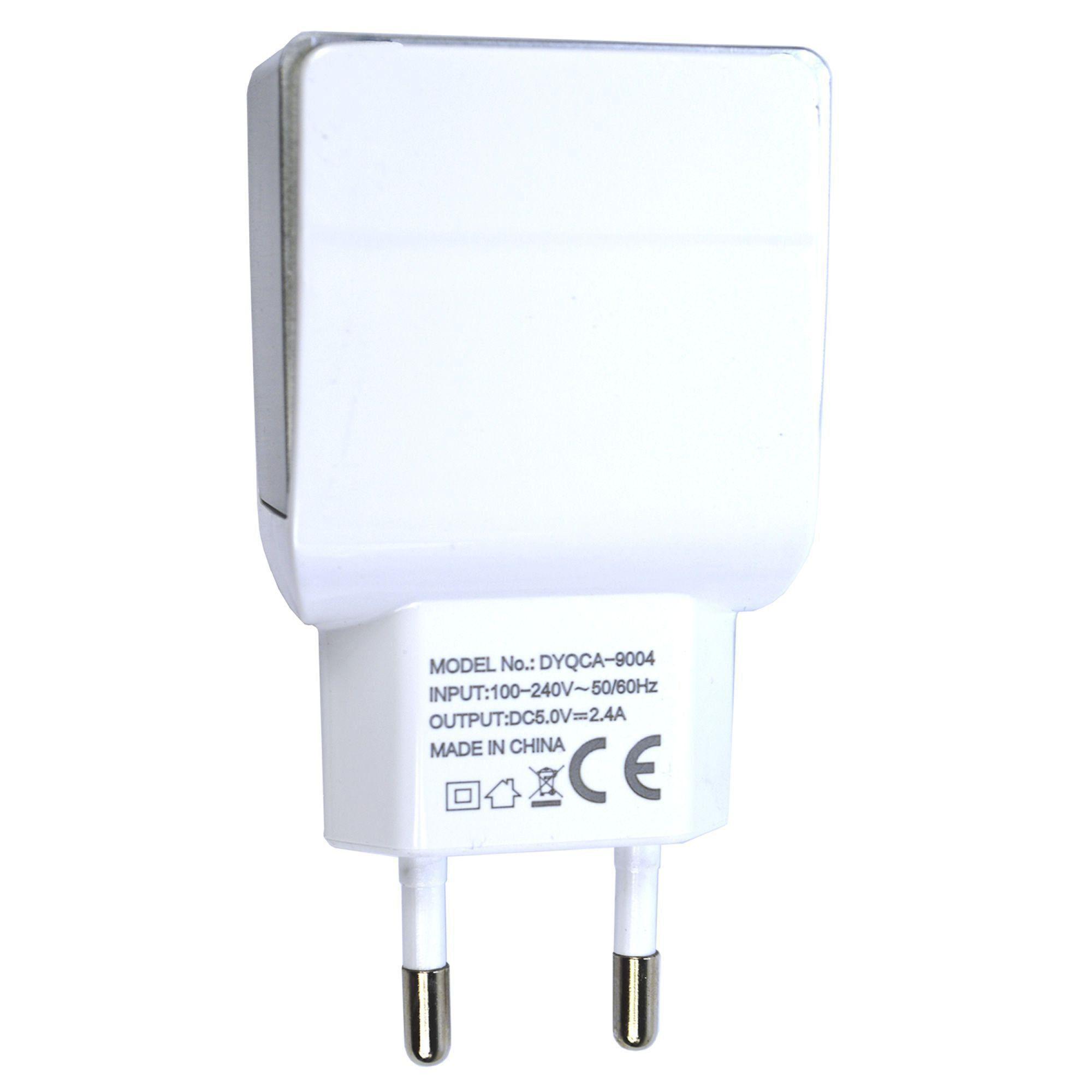 Carregador De Celular Universal Parede 2 USB bivolt 2.4A CBRN05291