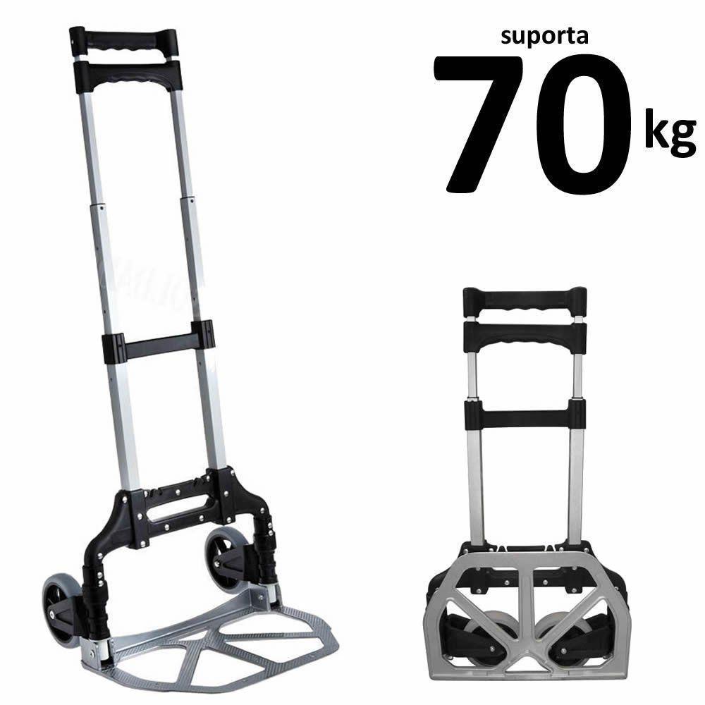 Carrinho de Carga Dobrável Alumínio 70 kgs CBRN02726