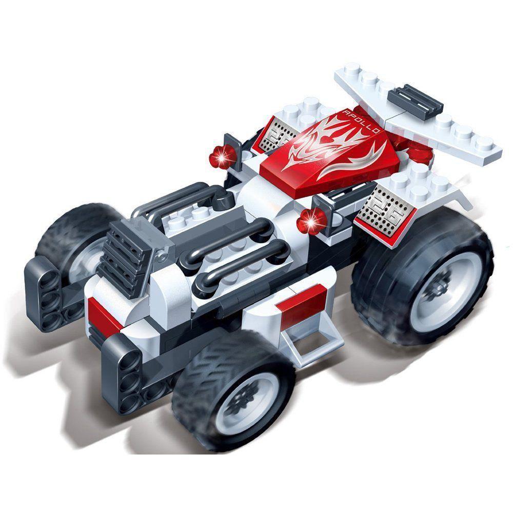Brinquedo Carro Corrida Apollo 102 Peças em Blocos de Montar CBRN0869