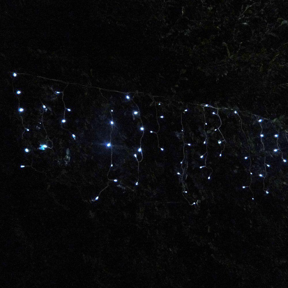 Cascata Luminosa 100 LEDs Branco 220v 3,6m Fio Transparente 1146