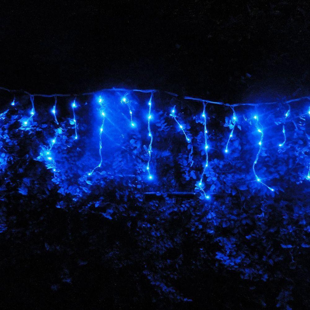 Cascata Luminosa 150 LEDs Azul 110v 3,6m Fio Branco 1313