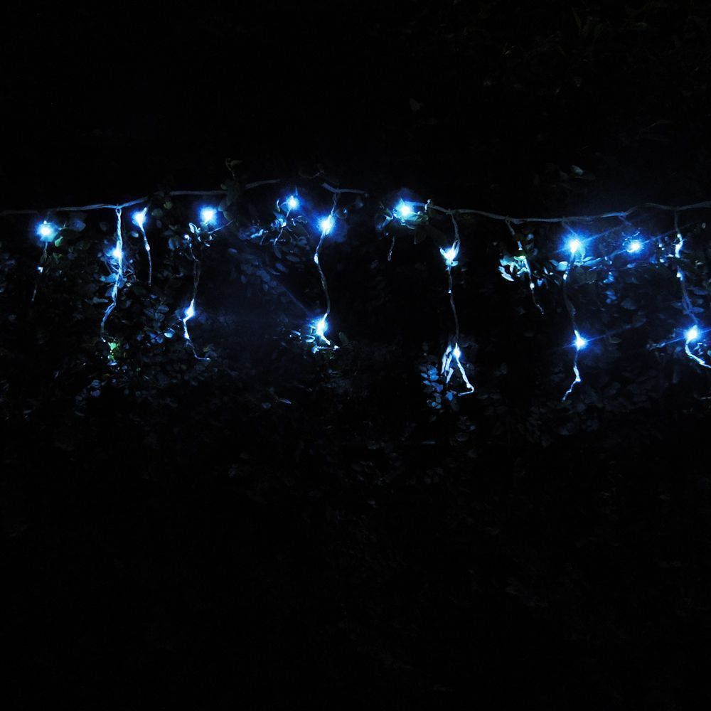 Cascata Luminosa 150 LEDs Branco 110v 3,6m Fio Branco 1312