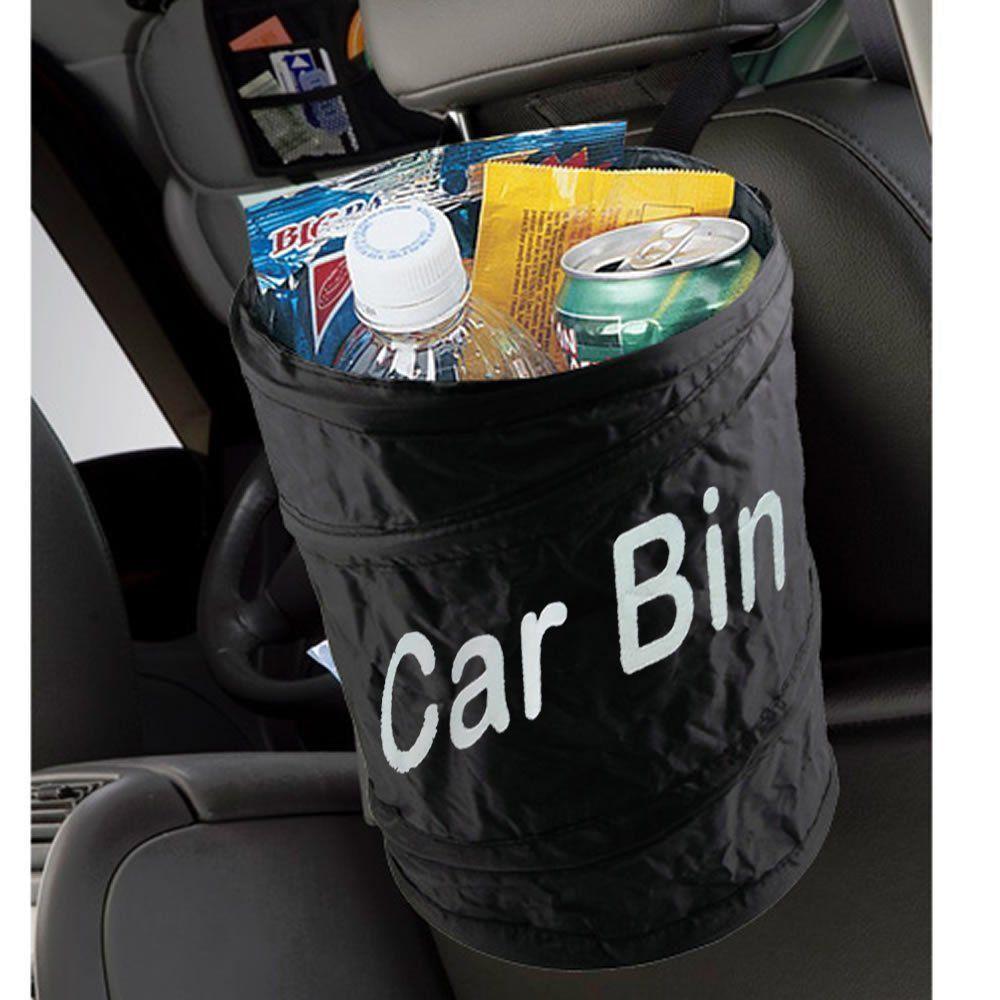Cesto de Lixo Auto Nylon Dobrável 20cm x 15cm Car Bin CBR-1081