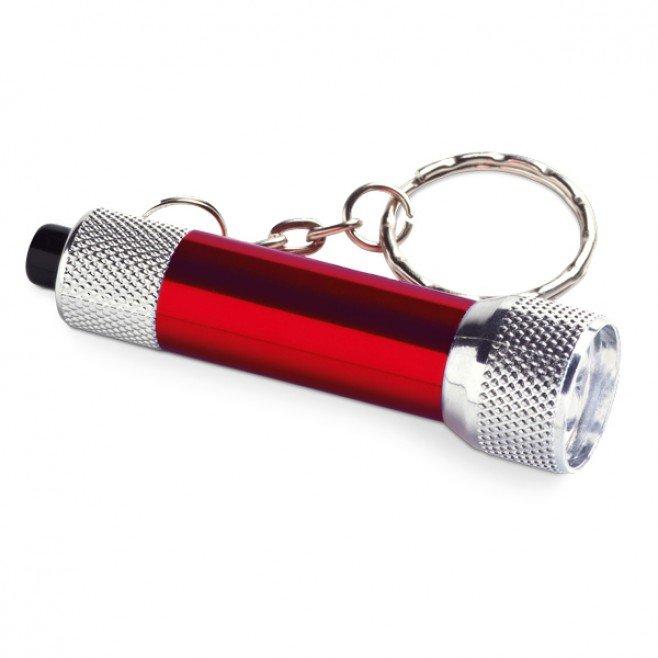 Chaveiro Alumínio Com Lanterna 3 Leds CBRBCH011