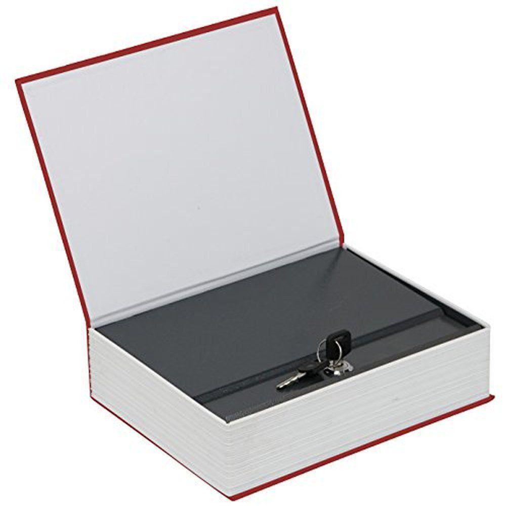Cofre Livro Aço 2mm Book Safe com 2 chaves 26,5cm ENGLAND CBRN02344